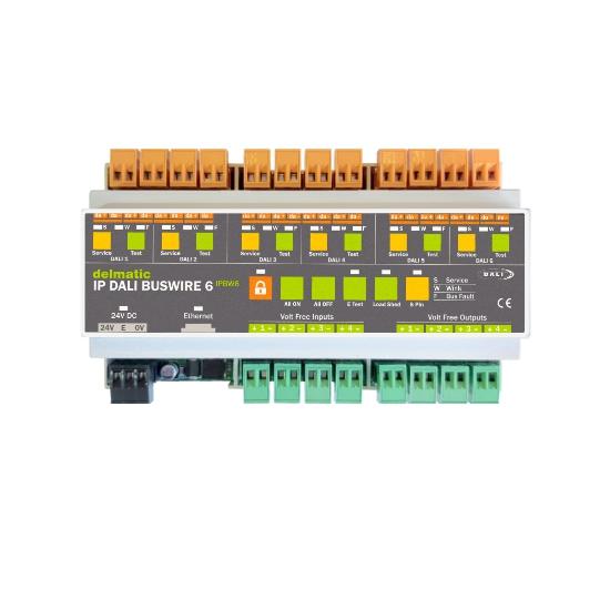 Delmatic IP DALI-2 Buswire Six lighting control module