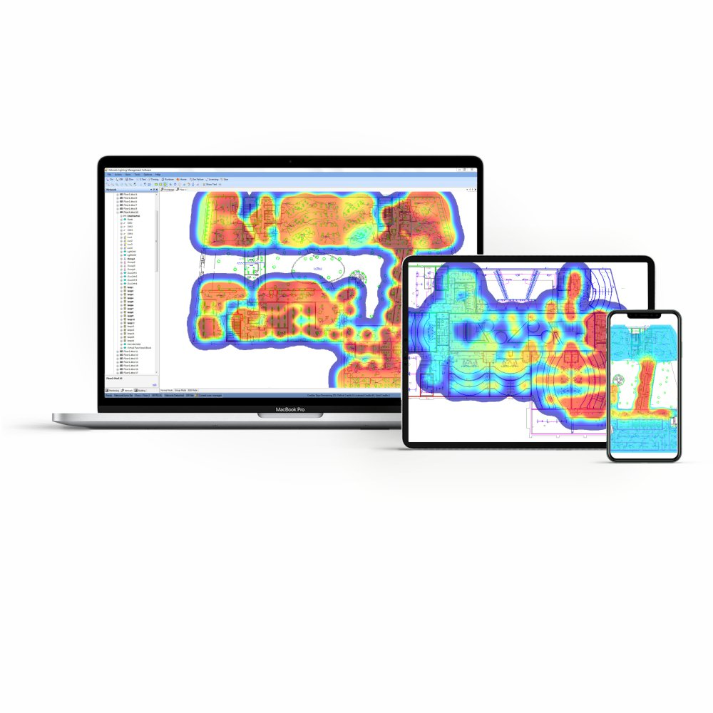 Delmatic lighting control heat mapping
